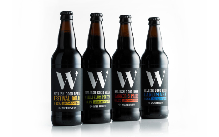 The Waen Brewery - beer bottles